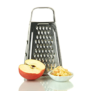 Grater with apple
