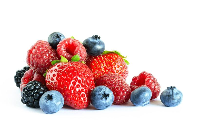 Pile of various berries