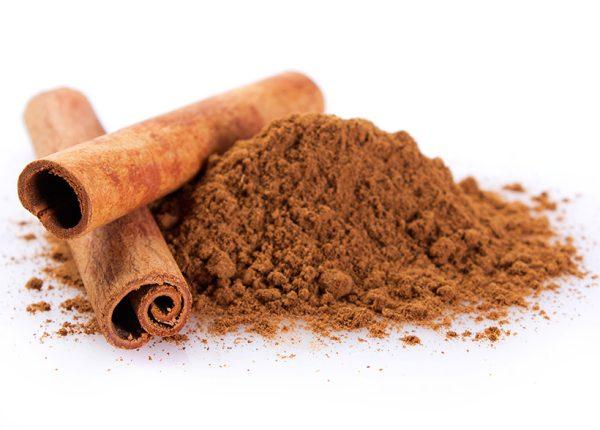 Ground cinnamon and sticks