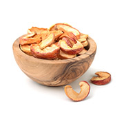 Bowl of sliced dried apple