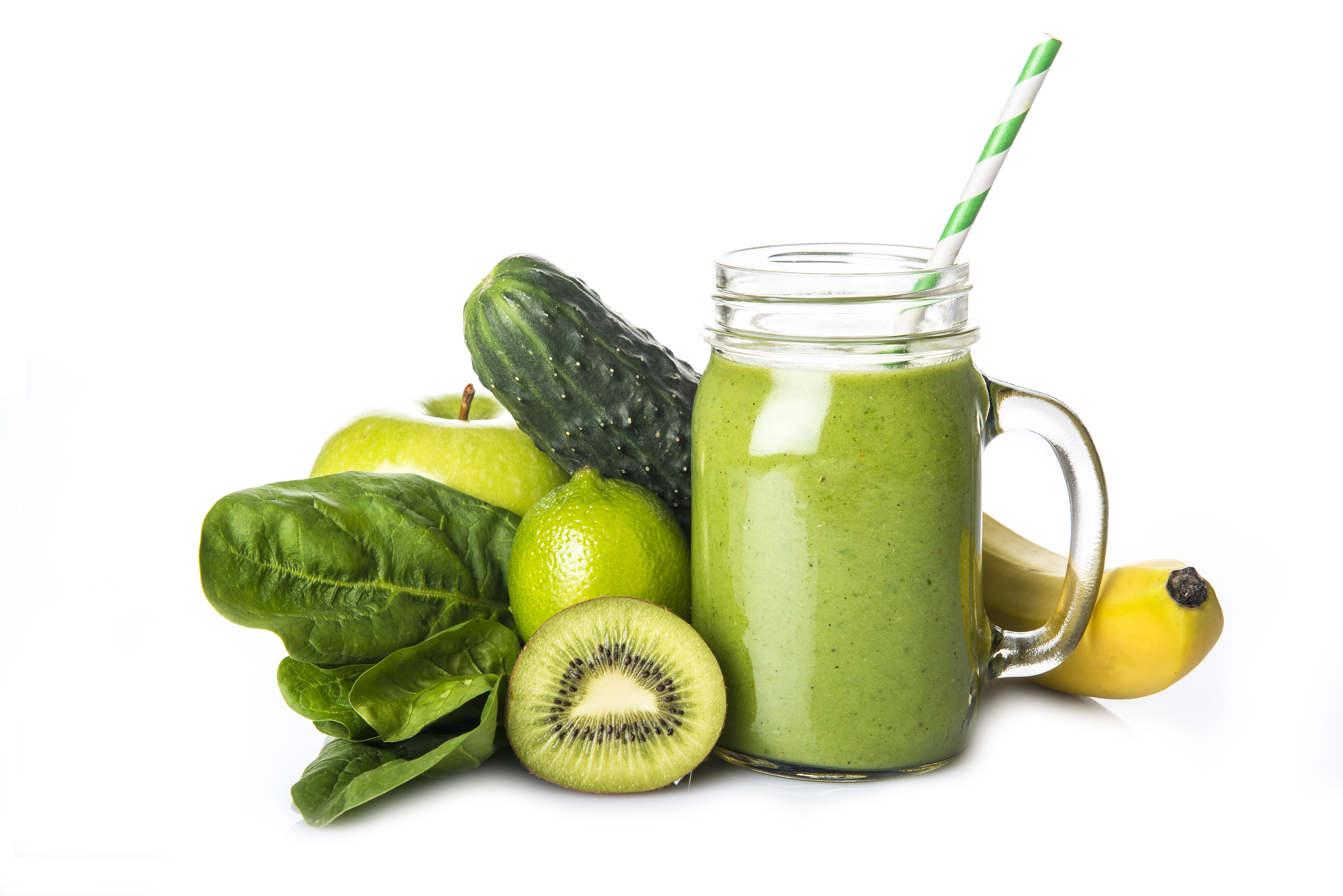 Green fruit and veggie smoothie