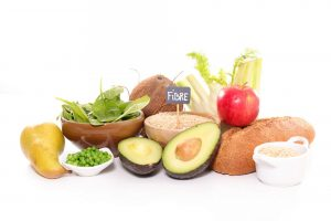 Fruits and vegetables rich in fibre