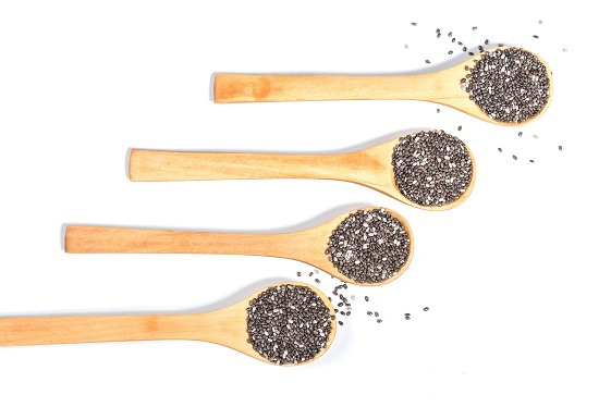 Four spoonfuls of chia seeds